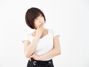 「悩む仕草」温活・妊活・冷え性解消サイトポカナビの素材